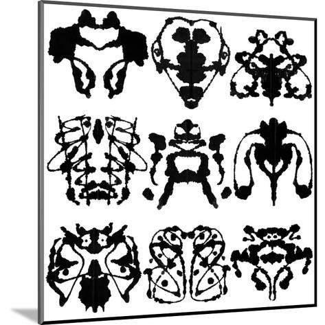 Nine Rorschach Test-akova-Mounted Art Print