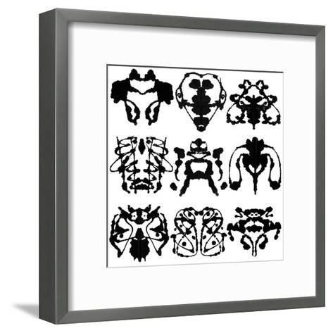 Nine Rorschach Test-akova-Framed Art Print