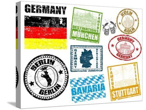 Stamps With Germany-radubalint-Stretched Canvas Print