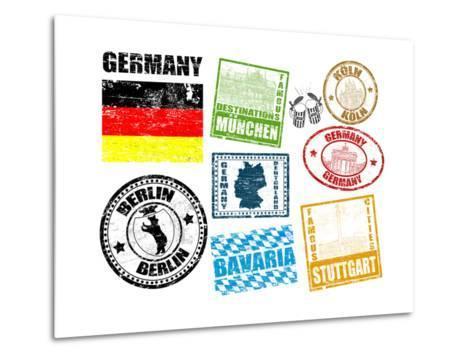 Stamps With Germany-radubalint-Metal Print