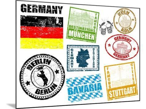 Stamps With Germany-radubalint-Mounted Art Print