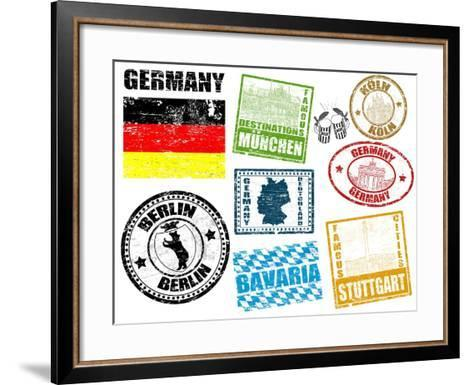 Stamps With Germany-radubalint-Framed Art Print