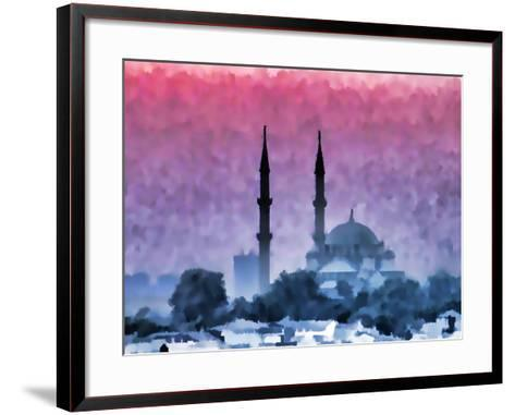 Watercolor Istanbul-Baloncici-Framed Art Print