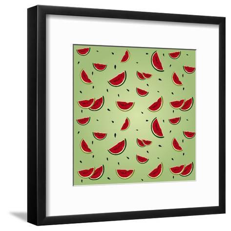 Watermelon Pattern-AnaMarques-Framed Art Print