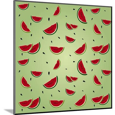 Watermelon Pattern-AnaMarques-Mounted Art Print