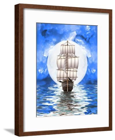 Old Ship-justdd-Framed Art Print