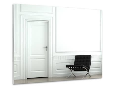 Interior Design Classic Wall With Chair-arquiplay-Metal Print