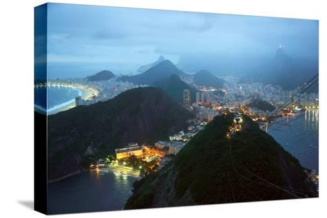 Rio De Janeiro By Night, Brazil-xura-Stretched Canvas Print