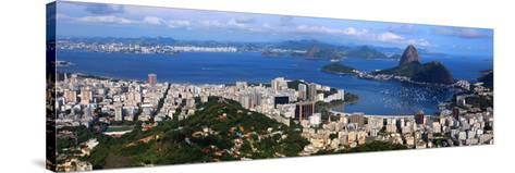 Panoramic View Of Rio De Janeiro, Brazil Landscape-SNEHITDESIGN-Stretched Canvas Print