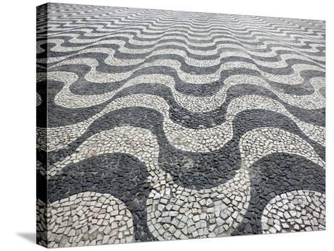 Amazon Pattern In Tiles, Manaus Brazil-Mike Howard-Stretched Canvas Print