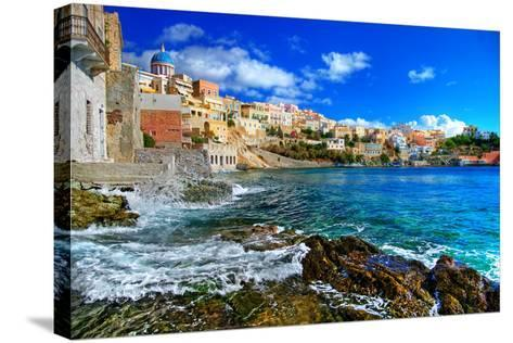 Beautiful Greek Islands Series - Syros-Maugli-l-Stretched Canvas Print