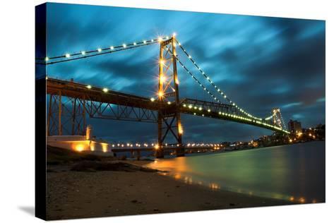 Hercilio Luz Bridge-cavasotti-Stretched Canvas Print