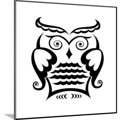 Owl-matik22-Mounted Art Print