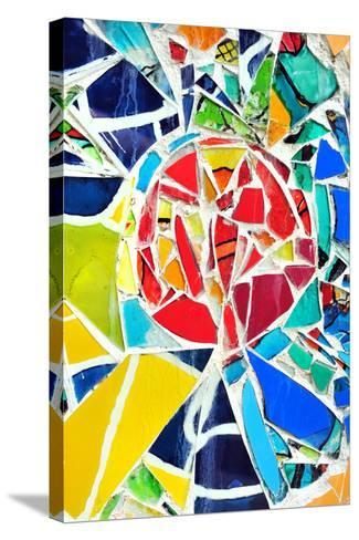 Mosaic Wall Decorative Ornament From Ceramic Broken Tile-tupikov-Stretched Canvas Print
