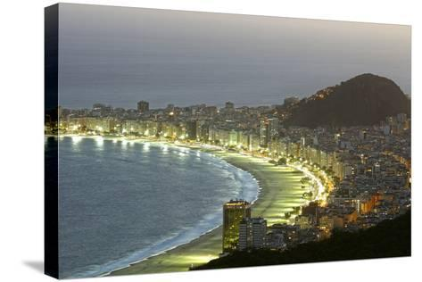 Night Panoramic View Of Rio De Janeiro-luiz rocha-Stretched Canvas Print