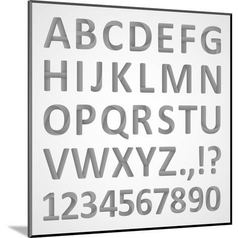3D Font- theseamuss-Mounted Art Print