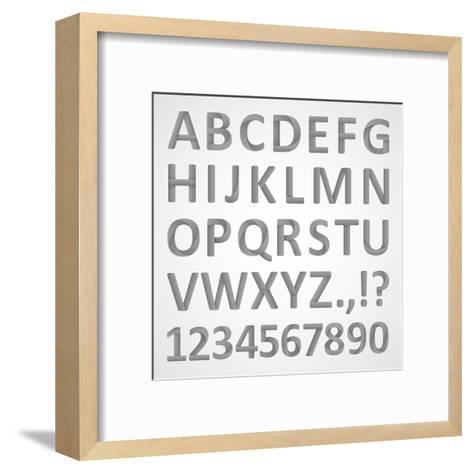3D Font- theseamuss-Framed Art Print