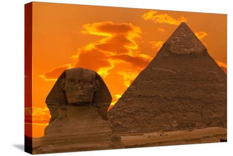The Sphinx And Great Pyramid, Egypt-Dmitry Pogodin-Stretched Canvas Print