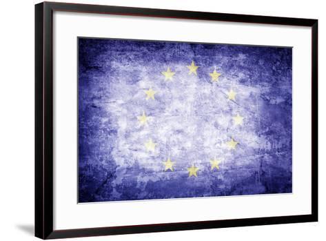 Eu Flag-kwasny221-Framed Art Print