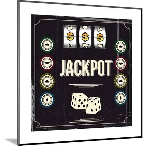 Jackpot-snoopgraphics-Mounted Art Print