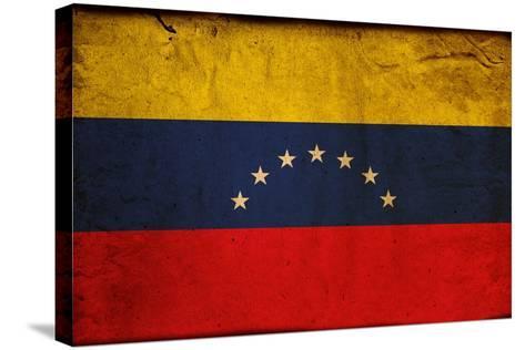 Vintage Flag Of Venezuela-ilolab-Stretched Canvas Print