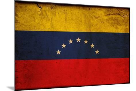 Vintage Flag Of Venezuela-ilolab-Mounted Art Print