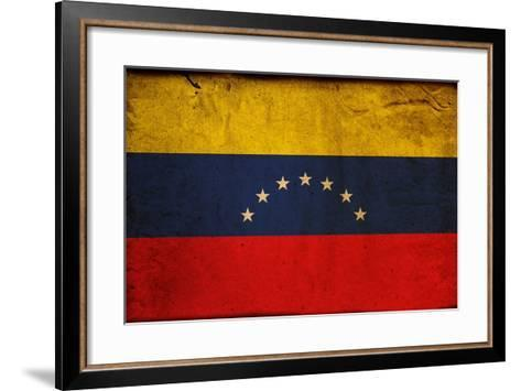 Vintage Flag Of Venezuela-ilolab-Framed Art Print