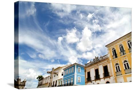 Buildings In Salvador-Spectral-Design-Stretched Canvas Print