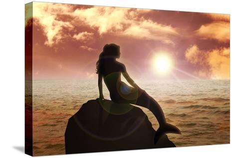 Mermaid-Rudall30-Stretched Canvas Print