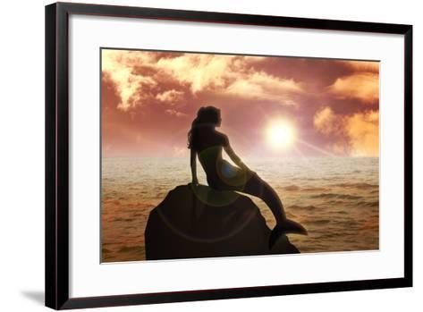 Mermaid-Rudall30-Framed Art Print