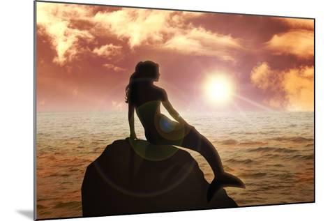 Mermaid-Rudall30-Mounted Art Print
