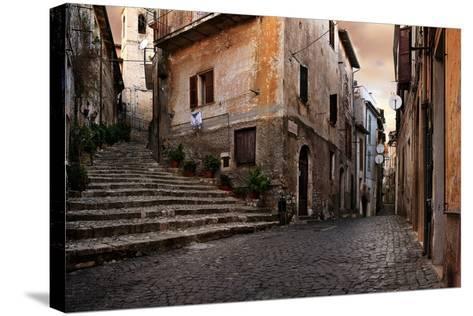 Old Italian Village-conrado-Stretched Canvas Print