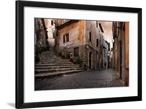 Old Italian Village-conrado-Framed Art Print