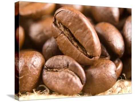 Roasted Coffe Beans Macro Texture-PH.OK-Stretched Canvas Print
