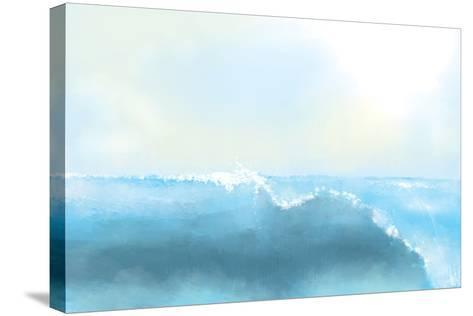 Painting Of A Great Sea Wave-stari-Stretched Canvas Print