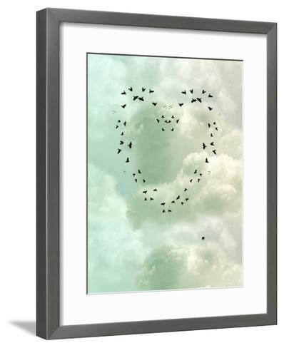 Heart-justdd-Framed Art Print