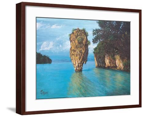Pang-Nga Bay National Park In Thailand- hinnamsaisuy-Framed Art Print