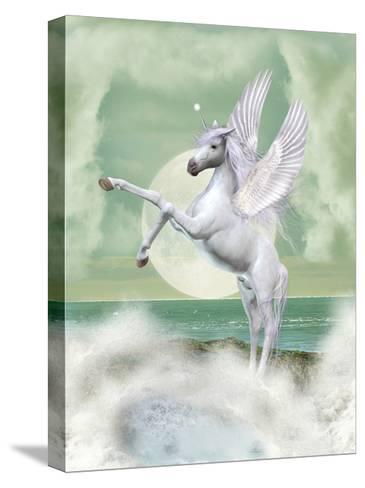 Unicorn-justdd-Stretched Canvas Print