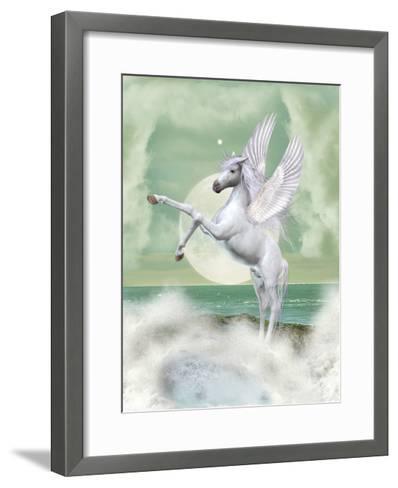 Unicorn-justdd-Framed Art Print