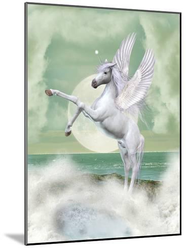 Unicorn-justdd-Mounted Art Print