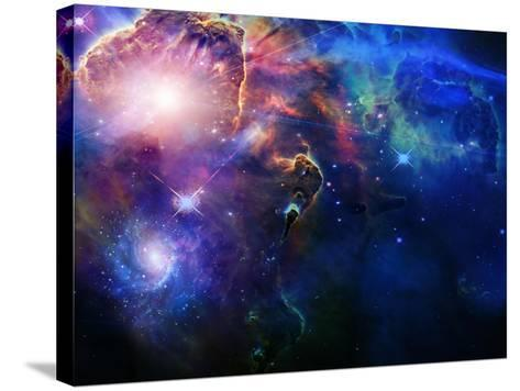 Space-rolffimages-Stretched Canvas Print