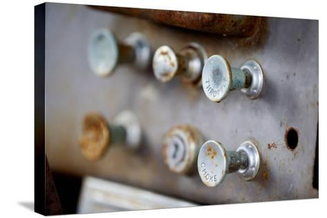 Pull Knobs - Choke And Throttle With Shallow Depth Of Field-leaf-Stretched Canvas Print