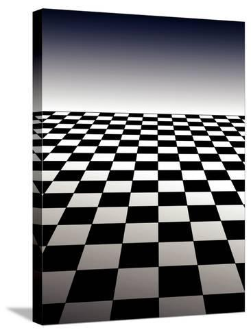 Checker Board Background-Isaac Marzioli-Stretched Canvas Print