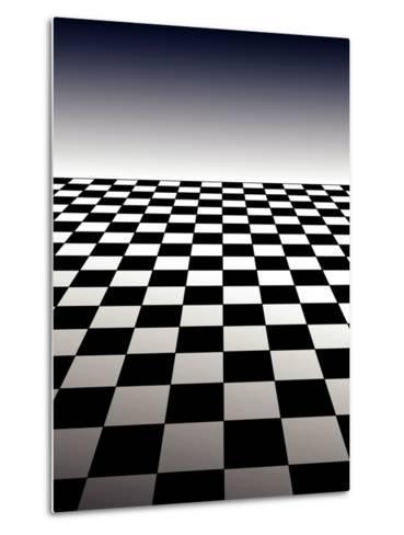 Checker Board Background-Isaac Marzioli-Metal Print