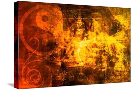 Buddha-kentoh-Stretched Canvas Print