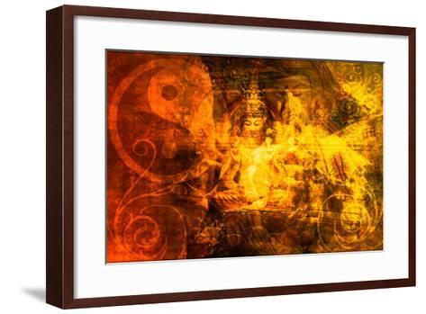 Buddha-kentoh-Framed Art Print