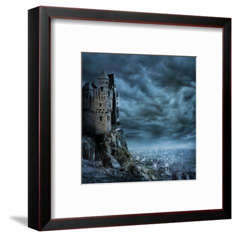 Castle-egal-Framed Art Print