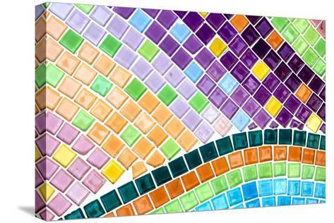 Tile Mosaic Pattern- thiroil-Stretched Canvas Print