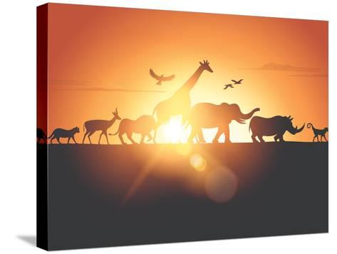 Sunset Safari-Solarseven-Stretched Canvas Print