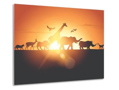 Sunset Safari-Solarseven-Metal Print